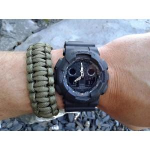 (OFFICIAL MALAYSIA WARRANTY) Casio G-SHOCK GA-100-1A1 Analog-Digital Men's Resin Watch (Black)
