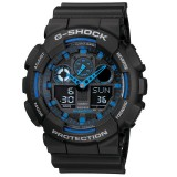 (OFFICIAL MALAYSIA WARRANTY) Casio G-SHOCK GA-100-1A2 Analog-Digital Men's Resin Watch (Black)