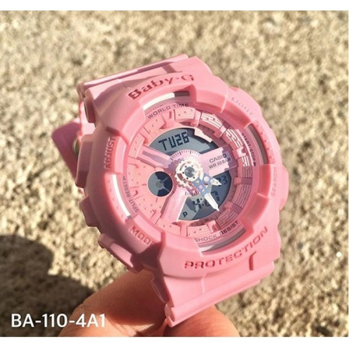 70a9586db044 (OFFICIAL MALAYSIA WARRANTY) Casio Baby-G BA-110-4A1 PINK COLOUR SERIES  Analog-Digital Resin Women's Watch ...