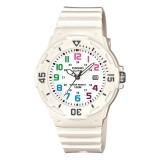 Casio Women's LRW-200H-7B 100m Analog Resin White 100% Original Watch (Free Shipping)