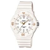 Casio Women's LRW-200H-7E2 100m Analog Resin White & Gold 100% Original Watch (Free Shipping)
