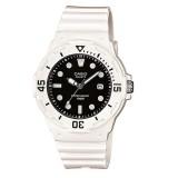 Casio Women's LRW-200H-1E 100m Analog Resin White & Black 100% Original Watch (Free Shipping)