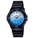 Casio Women's LRW-200H-2E 100m Analog Resin Black & Blue 100% Original Watch (Free Shipping)