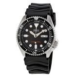 Seiko Men Sports Automatic Diver 200m Rubber Strap Watch SKX007K1 (Black)
