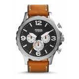 Fossil JR1486 Nate Chronograph Leather Watch (Tan)