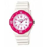 Casio Women's LRW-200H-4B 100m Analog Resin White & Pink 100% Original Watch (Free Shipping)