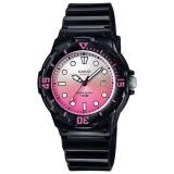 Casio Women's LRW-200H-4E 100m Analog Resin Black & Pink 100% Original Watch (Free Shipping)