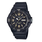 Casio Men's MRW-200H-1B3 100m Analog Resin Black & Gold 100% Original Watch (Free Shipping)