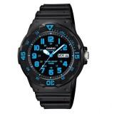 Casio Men's MRW-200H-2B 100m Analog Resin Black & Blue 100% Original Watch (Free Shipping)