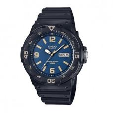Casio Men's MRW-200H-2B3 100m Analog Resin Black & Blue 100% Original Watch (Free Shipping)