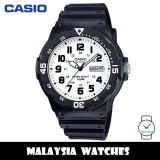 (100% Original) Casio MRW-200H-7B Quartz Analog White Dial Black Resin Men's Watch MRW200H MRW200H-7B MRW-200H-7BVDF