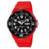 Casio Men's MRW-200HC-4B 100m Analog Resin Red & Black 100% Original Watch (Free Shipping)