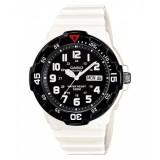 Casio Men's MRW-200HC-7B 100m Analog Resin Black & White 100% Original Watch (Free Shipping)