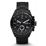 Fossil CH2601 Decker Chronograph Stainless Steel Watch (Black)