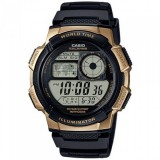 Casio Men's AE-1000W-1A3 10-Year Battery Life Multi-Function Digital Black & Gold Watch (Free Shipping)