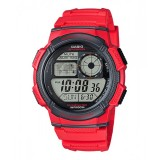 Casio Men's AE-1000W-4A 10-Year Battery Life Multi-Function Digital Red Watch (Free Shipping)