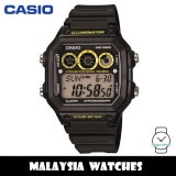 (100% Original) Casio Classic AE-1300WH-1A 10-Year Battery Life Interval Timer Digital Black & Yellow Resin Watch AE1300WH AE1300WH-1A AE-1300WH-1AVDF