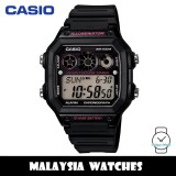 (100% Original) Casio Classic AE-1300WH-1A2 10-Year Battery Life Interval Timer Digital Black & Pink Resin Watch AE1300WH AE1300WH-1A2 AE-1300WH-1A2VDF