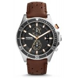Fossil CH2944 Wakefield Chronograph Leather Watch (Brown)