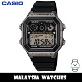 (100% Original) Casio Classic AE-1300WH-8A 10-Year Battery Life Interval Timer Digital Black & Silver Resin Watch AE1300WH AE1300WH-8A AE-1300WH-8AVDF