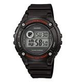 Casio Men's W-216H-1A Standard Digital Black & Red Watch (Free Shipping)