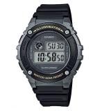 Casio Men's W-216H-1B Standard Digital Black & Silver Watch (Free Shipping)
