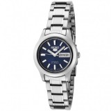 Seiko 5 SYMD93K1 Automatic 21 Jewels Ladies Stainless Steel Watch (Silver & Blue)