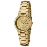 Seiko 5 SYME58K1 Automatic 21 Jewels Ladies Gold Tone Stainless Steel Watch (Gold)