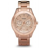 Fossil ES2859 Stella Multifunction Stainless Steel Watch (Rose)