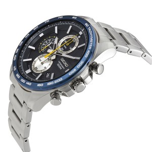 Seiko Men's Chronograph Stainless Steel Band Watch SSB259P1 (Silver & Black)