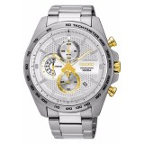 Seiko Men's Chronograph Stainless Steel Band Watch SSB285P1 (Silver & Gold)
